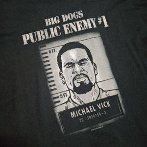 Big Dogs RARE Michael Vick long sleeve tee (2007)
